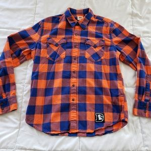 Levi's Denver Broncos Flannel Long Sleeve Shirt M